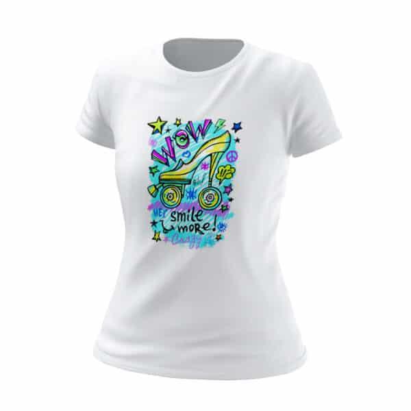 t shirt bianca donna wow